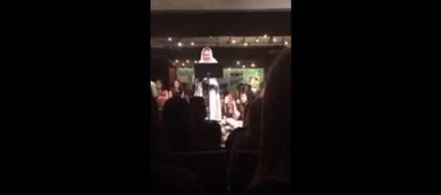 Proud Ethiopian girl recites her own poem about Ethiopia at her highschool