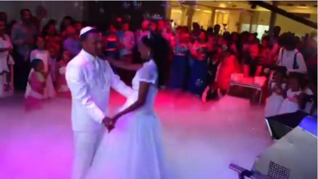 Ethiopian wedding in Israel - Bride and Bridegroom dance