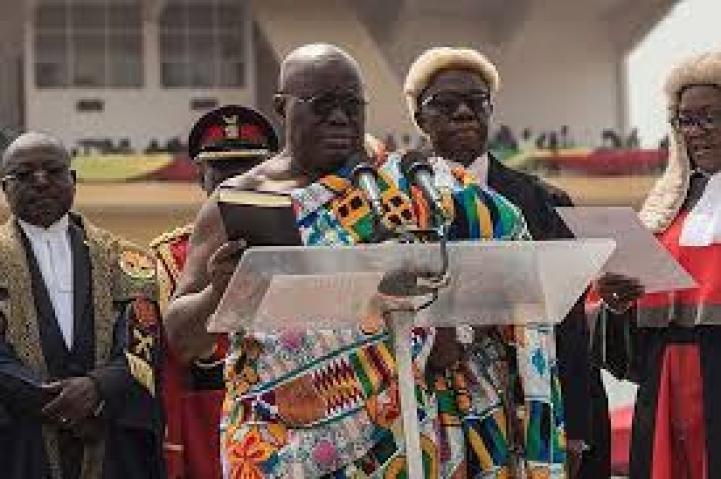 "ghana""s new president Nana Akuffo-Addo plagiarized part of his innaugural speech"