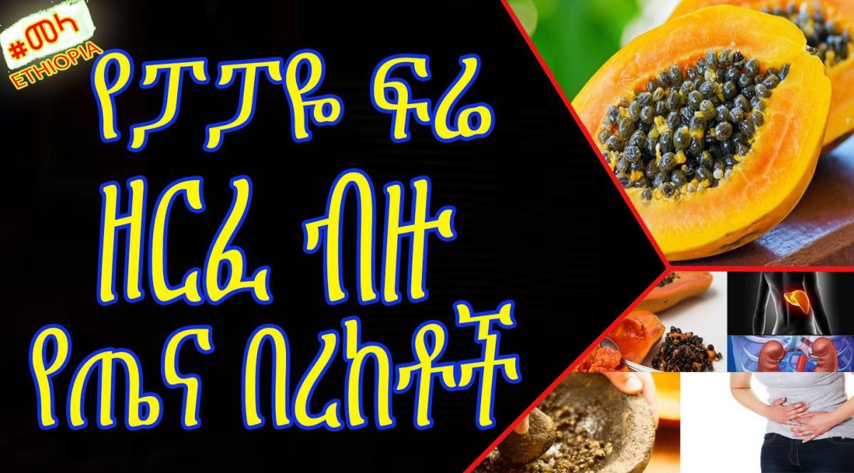 ETHIOPIA - የፓፓዬ ፍሬ ዘርፈ ብዙ የጤና በረከቶች  Papaya Seed Health Benefits in Amharic