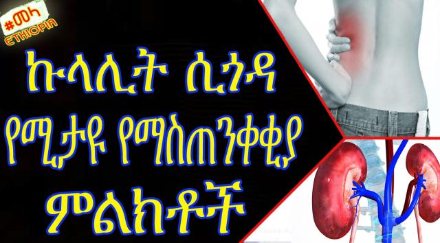 ETHIOPIA - 8 Warning Signs of Kidney Disease |ኩላሊት ሲጎዳ