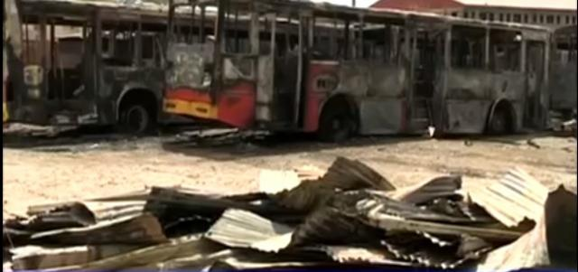 Anbesa Bus destroyed by fire and lose over 46 millions birr worth Property