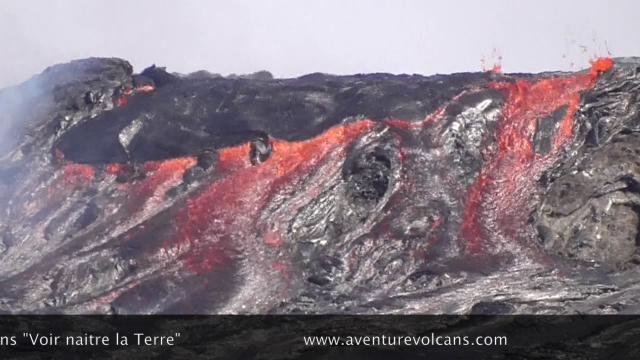 Erta Ale volcano overflows, collapses inside caldera