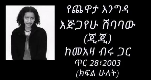 ETHIOPIA - Ejigayehu Shibabaw (Gigi) Interview with Meaza Biru Part 2