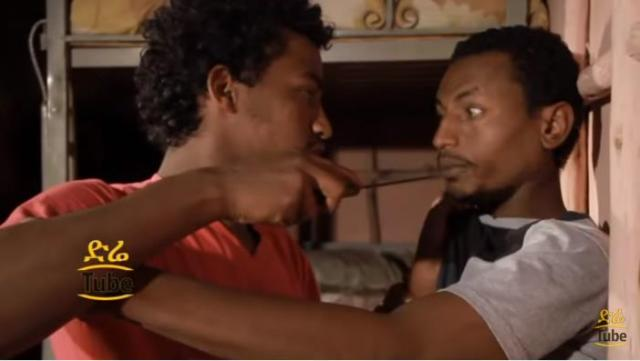 "Funny Scene from Ethiopian Movie ""Yeleba Lij"""
