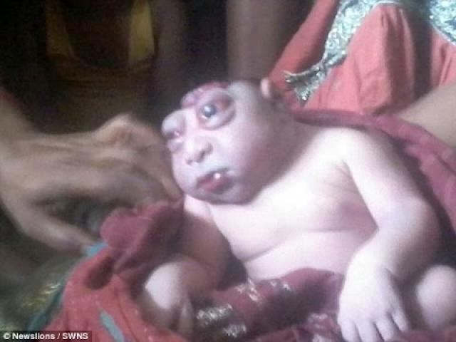 The baby branded an ALIEN: Mother refused to breastfeed newborn son...