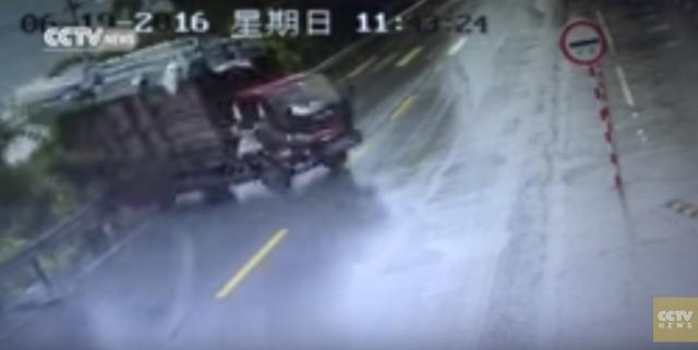 Driver, passenger thrown from truck after emergency stop