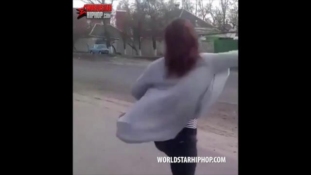 Girl Tries Twerking On The Side Of The Road & It Ends All Bad For Her!