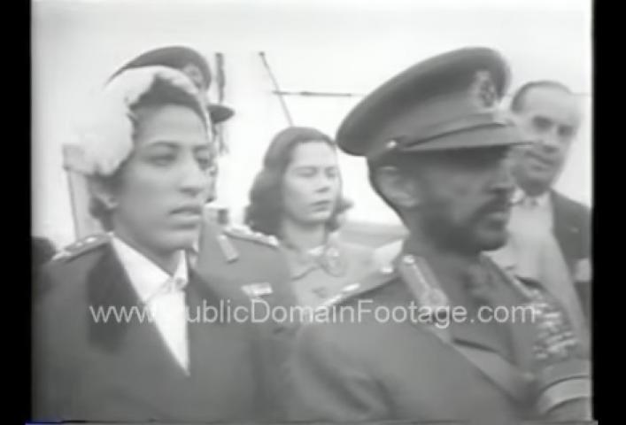 Emperor of Ethiopia Haile Selassie I visits the United States demo 1954