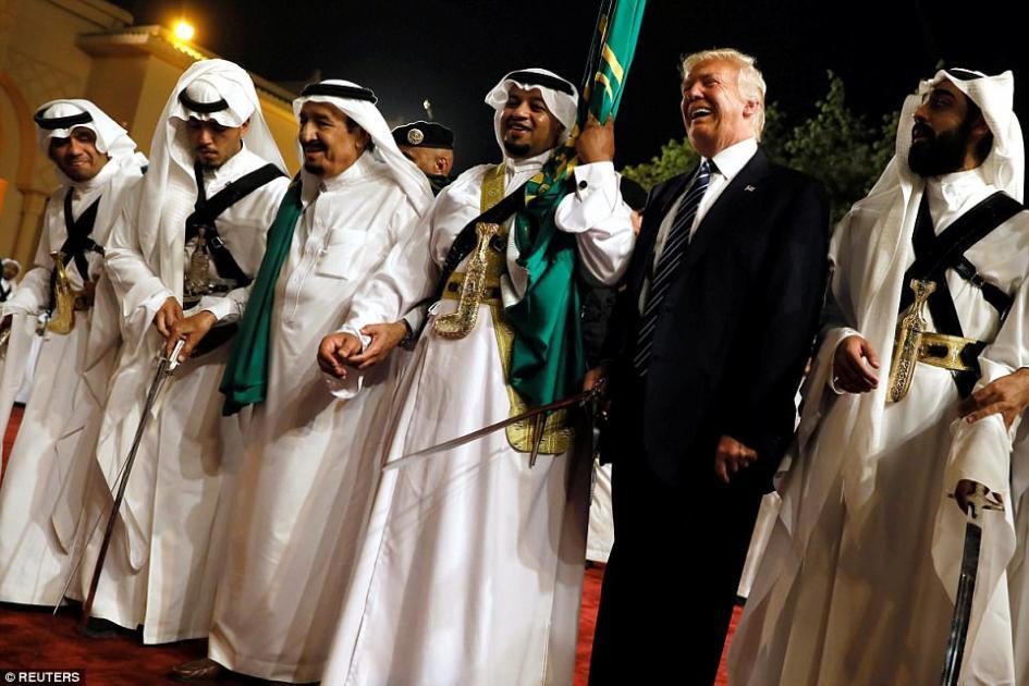 Trump, Tillerson, Ross dance with swords in Saudi Arabia
