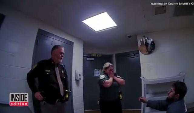 Man Tricks Corrections Officer Girlfriend When He Proposes During His 'Arrest'