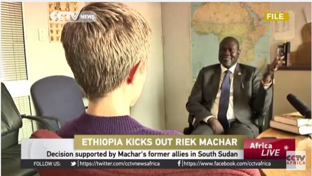 Ethiopia ends Riek Machar's stay in the country