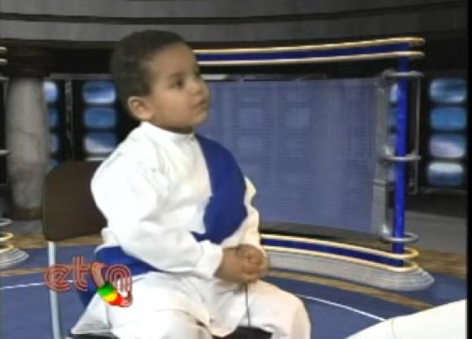 Cute Ethiopian kid Singing Mezmur