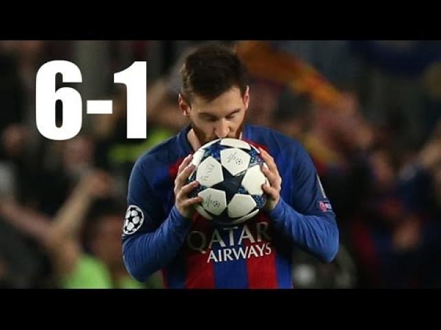 Barcelona vs Paris Saint Germain 6-1 All Goals & Highlights
