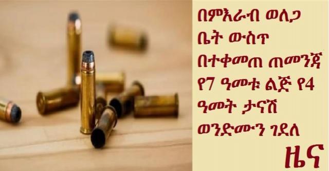 Boy 7 year-old shoots, kills 4 year-old brother in Wellega, Ethiopia