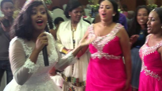 Ethiopian wedding Bride and Groom Singing