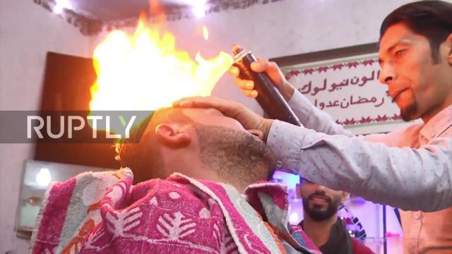 State of Palestine: It's so hot right now! Meet Gaza's fire barber