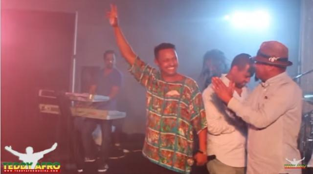 Teddy Afro's Birthday on stage - Winnipeg, Canada 2016