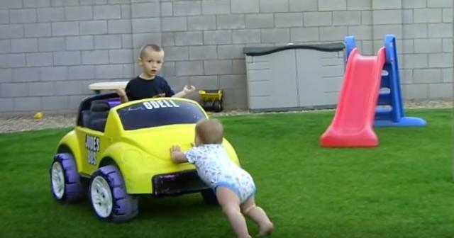 Babies Toddlers And Power Wheels Compilation - Funny