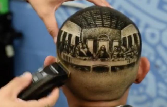 This Barber Created A Masterpiece On His Client's Head!