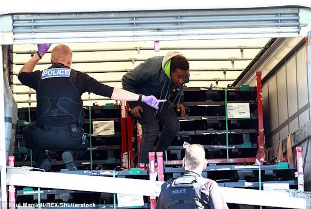 Man finds SIX 'illegal immigrants' in the back of his lorry