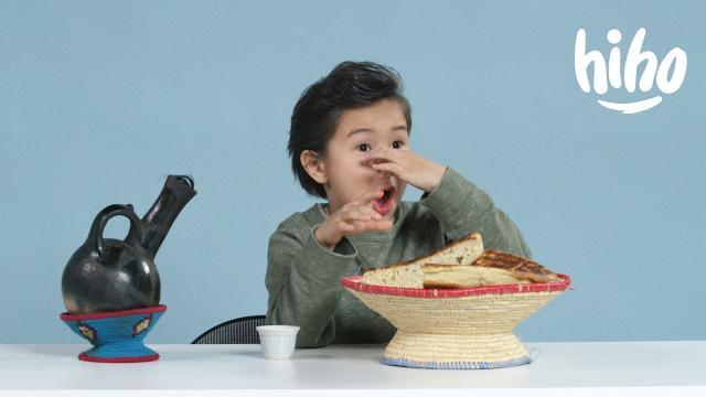American Kids Try Ethiopian Food | Ep 17 - Enjoy The Kids Reaction
