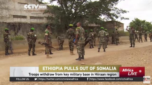 Ethiopia troops withdraw from key military base in Hiiraan region