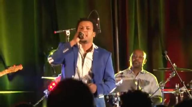 "Hailu Fereja playing ""Abaziyo"" on stage (Guragigna music)"