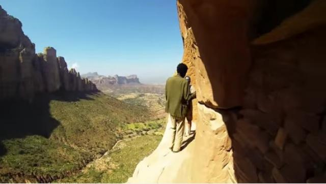 Climbing Abuna Yemata Guh In Ethiopia without safty equipment