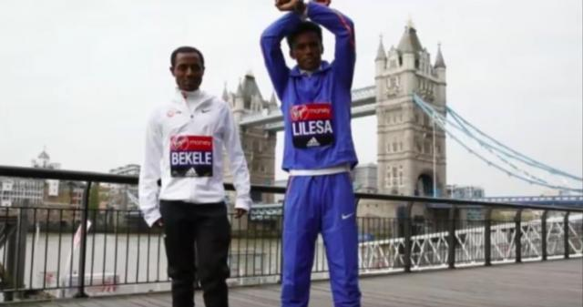 Kenenisa Bekele & Feyisa Lilesa getting Ready for London Marathon