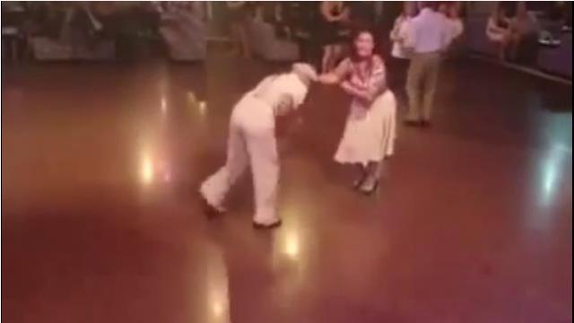 Old couple walks on the dance floor and blows everyone away